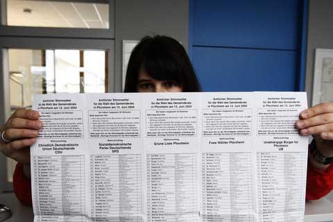 Detailaufnahme eines der versehentlich versandten Stimmzettel (Foto: DeWinter)