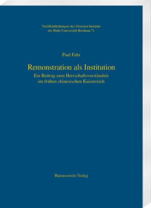 Remonstration als Institution
