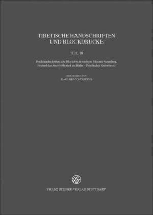 Tibetische Handschriften und Blockdrucke. Gesammelte Werke des Kon-sprul... / Tibetische Handschriften und Blockdrucke
