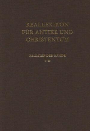 Reallexikon für Antike und Christentum. Sachwörterbuch zur Auseinandersetzung... / Reallexikon für Antike und Christentum   Bundesamt für magische Wesen
