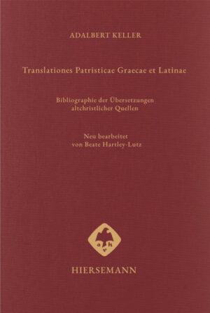 Translationes Patristicae Graecae et Latinae   Bundesamt für magische Wesen
