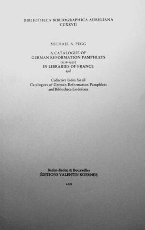 A Catalogue of German Reformation Pamphlets (1515-1550) in Libraries of France   Bundesamt für magische Wesen
