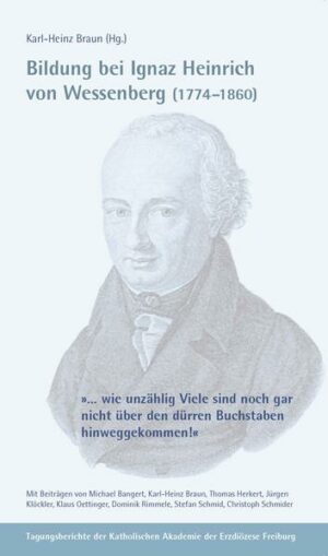 Bildung bei Ignaz Heinrich von Wessenberg (1774-1860)   Bundesamt für magische Wesen