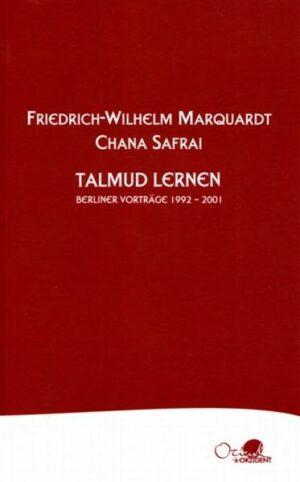 Talmud lernen Vorträge an der Evangelischen Akademie zu Berlin 1992 – 2001