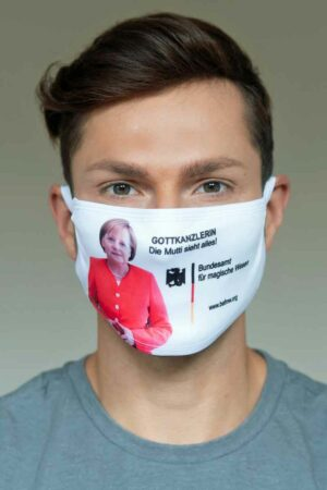 """Bundeslurch-Maske """"Gottkanzlerin - Die Mutti sieht alles!"""""""