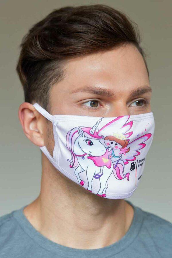 """Bundeslurch-Maske """"Wendy und das Einhorn"""""""