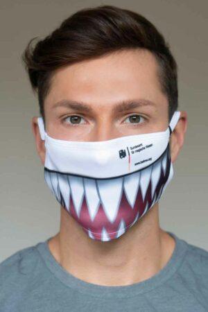 """Bundeslurch-Maske """"Dämonen-Gebiß"""""""