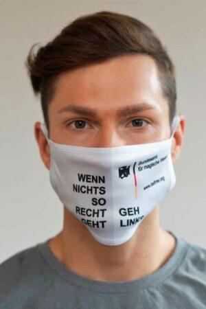 """Bundeslurch-Maske """"Wenn nichts so recht geht, geh links!"""""""