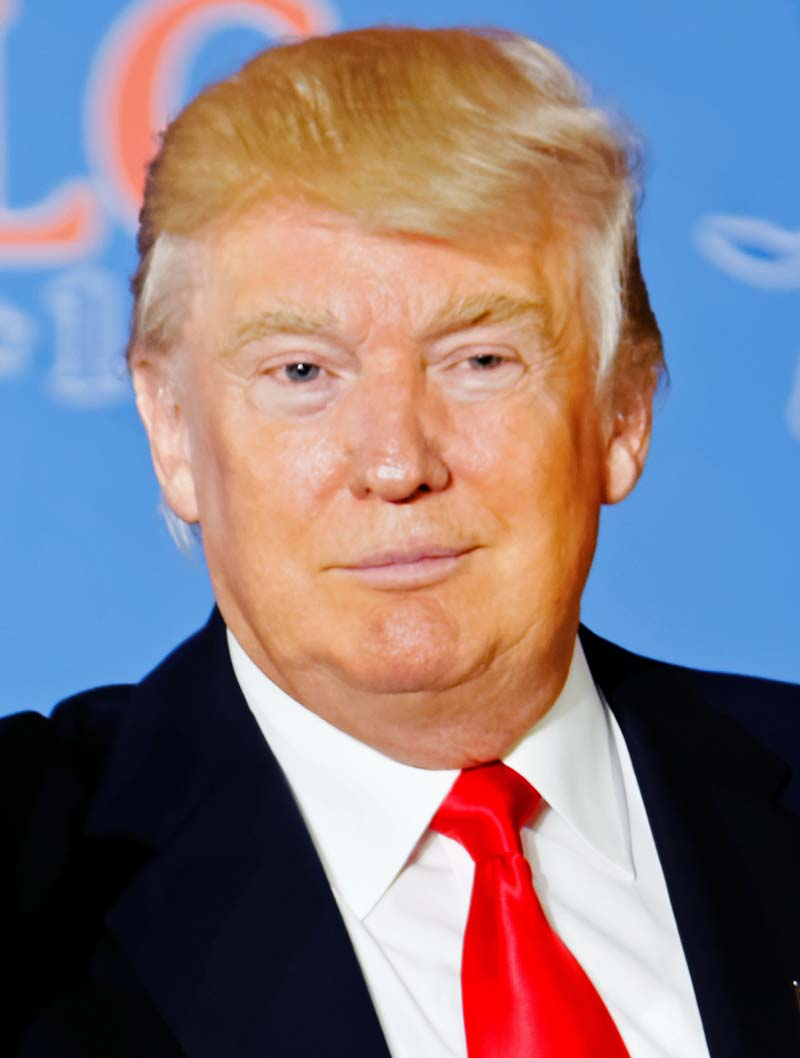 Donald Trump, der nicht besonders gut geschminkte Horror-Clown-in-Chief, Chef-Repräsentant aller Horror-Clowns