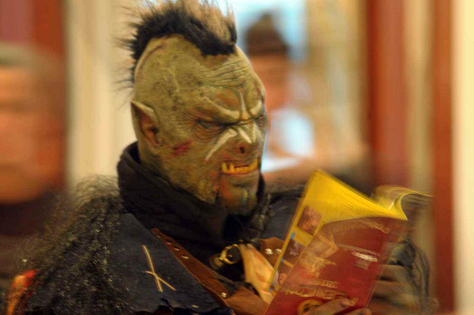 Erik Tegeder als Ork Quon Mato (Foto: Bundesamt für magische Wesen)