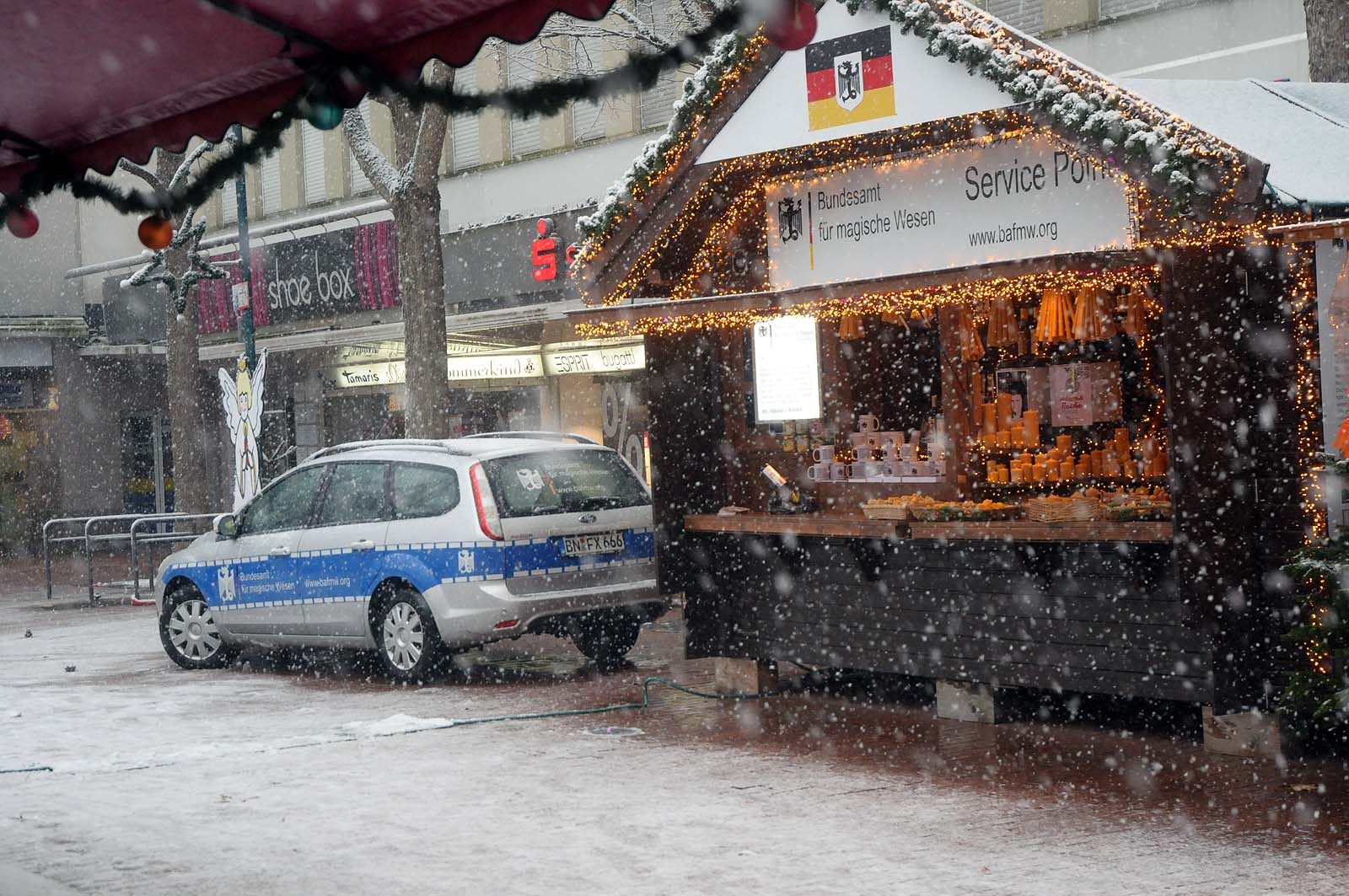 Nikolausmarkt Bad Godesberg 2017 mit dem Bundesamt für magische Wesen (Foto: Bundesamt für magische Wesen)