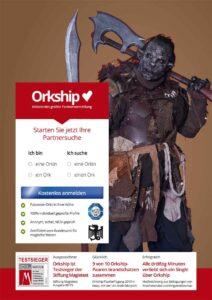 Alle drölfzig Minuten verliebt sich ein Ork über Orkship.