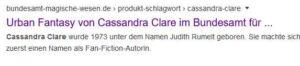 Cassandra Clare als Schlagwort