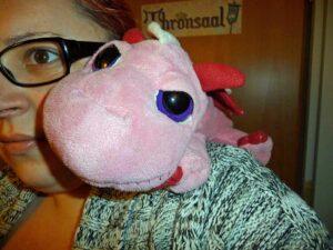 Charlie, ein rosa Todesdrache in Köln (Foto: Die Sternenruferin)