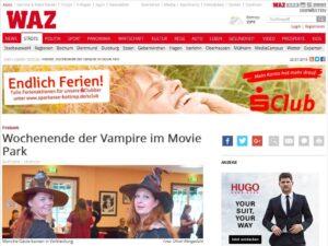 WAZ Wochenende der Vampire im Movie Park Bottrop