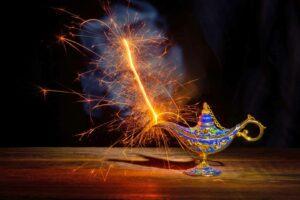 Eine Wunderlampe, natürliche Heimstatt eines Dschinns. (Foto: iStock)